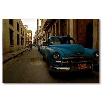 Αφίσα (Κούβα, παλιός, αυτοκίνητο, δρόμος, δρόμοι)